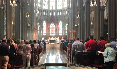 Covington Latin Faculty Celebrate Mass Together